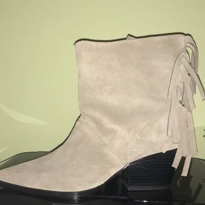 Shoes - Zara leather boots ... new!
